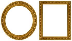 Frames de retrato do ouro Fotos de Stock