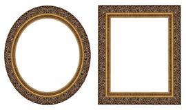 Frames de retrato do ouro Foto de Stock