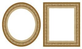 Frames de retrato do ouro imagens de stock royalty free