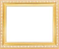 Frames de retrato do ouro Isolado no fundo branco Fotos de Stock