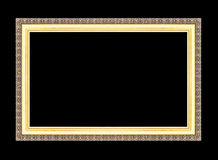Frames de retrato do ouro Isolado no preto Imagem de Stock Royalty Free