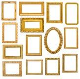 Frames de retrato dourados Imagem de Stock Royalty Free