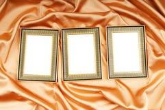 Frames de retrato no cetim da cor Fotografia de Stock Royalty Free