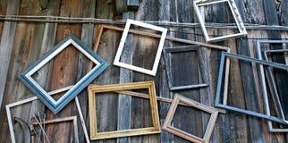 Frames de retrato vazios Fotografia de Stock