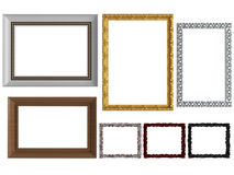 Frames de retrato vazios da parede do vintage decorativo Fotografia de Stock Royalty Free