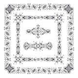 Frames decorated with abstract ornament Royalty Free Stock Photography