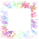 Frames decorated with colorful flowers Stock Photography