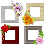 The frames is decorated isolated on w Stock Photo