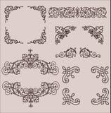 frames Decoratieve Elementen Beeldverhaal polair met harten Stock Afbeeldingen