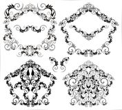 Frames and decorative elements Stock Image