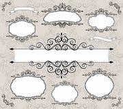 Frames decorativos do vetor Imagem de Stock