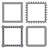 Frames decorativos geométricos Imagens de Stock