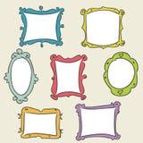 Frames desenhados mão Fotografia de Stock