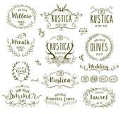Frames desenhados mão Imagens de Stock Royalty Free