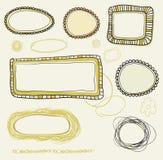 Frames desenhados mão do vintage Imagem de Stock