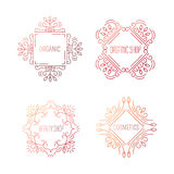 Frames design for cosmetics Royalty Free Stock Photos