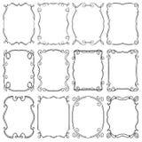 Frames design elements. Editable vector illustrator file Stock Image