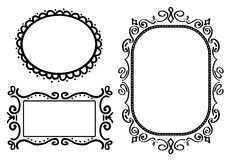 Frames do Doodle Fotos de Stock