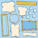Frames do Doodle Imagens de Stock Royalty Free