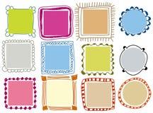 Frames do Doodle Fotografia de Stock Royalty Free