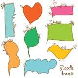 Frames do Doodle ajustados Imagens de Stock Royalty Free