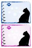Frames do gato Imagem de Stock