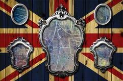 Frames do metal em uma bandeira Fotos de Stock Royalty Free