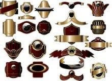 Frames do ouro ilustração royalty free