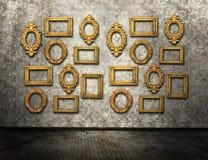 Frames do ouro Imagens de Stock