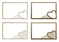Frames do Valentim do cartão para fotos Foto de Stock Royalty Free