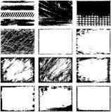 Frames do vetor de Grunge ilustração stock