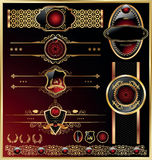 Frames do vetor e jogo de etiquetas decorativo ilustração royalty free