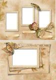 Frames do vintage ajustados. Álbum da família Fotos de Stock Royalty Free