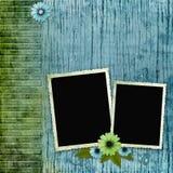Frames do vintage no fundo de madeira Imagem de Stock