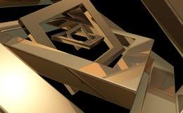 Frames dourados Imagens de Stock