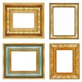 Frames dourados ilustração stock