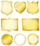 Frames dourados Fotografia de Stock