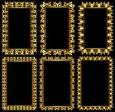 Frames dourados Foto de Stock