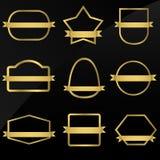 Frames dourados Imagem de Stock Royalty Free