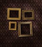 Frames dourados inclinados Foto de Stock
