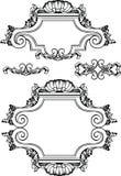 Frames e elementos antigos do vintage do vetor. ilustração royalty free