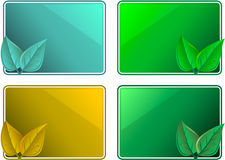 Frames eco leaf design Royalty Free Stock Image