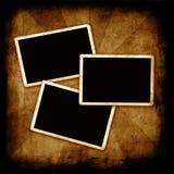 Frames em branco da foto na parede Imagens de Stock Royalty Free