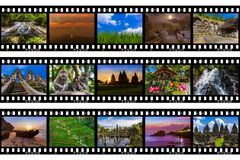 Frames of film - Bali Indonesia travel images my photos Stock Photo