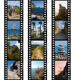 Frames of film, nature and travel Stock Photography