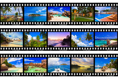 Frames of film - nature and travel (my photos) stock images