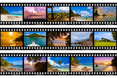 Frames of film - nature and travel (my photos) Royalty Free Stock Images