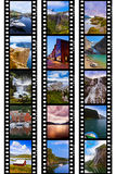 Frames of film - Norway travel images (my photos) Royalty Free Stock Photography