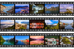 Frames of film - Norway travel images (my photos) Stock Photo