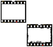 2 frames of film,  photo frames Royalty Free Stock Image